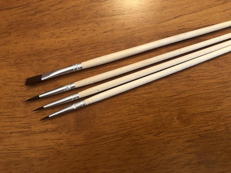 paintbrushes from Winnie's Picks kit