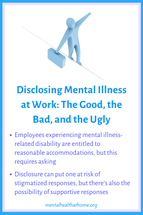 Disclosing Mental Illness at Work: the good, the bad, and the ugly - Person walking a tightrope