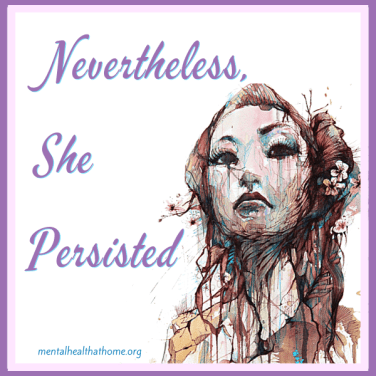 Nevertheless, she persisted - watercolour drawing of a woman