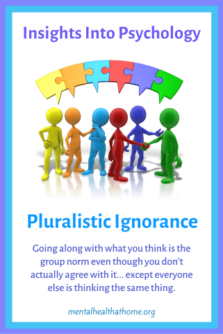 Insights into psychology: Pluralistic ignorance