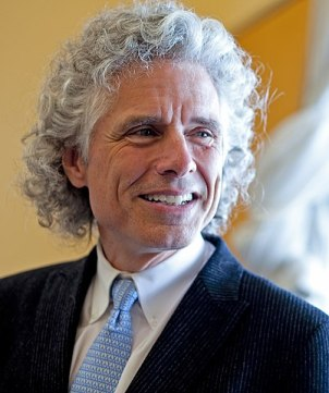 Steven Pinker with grey cur