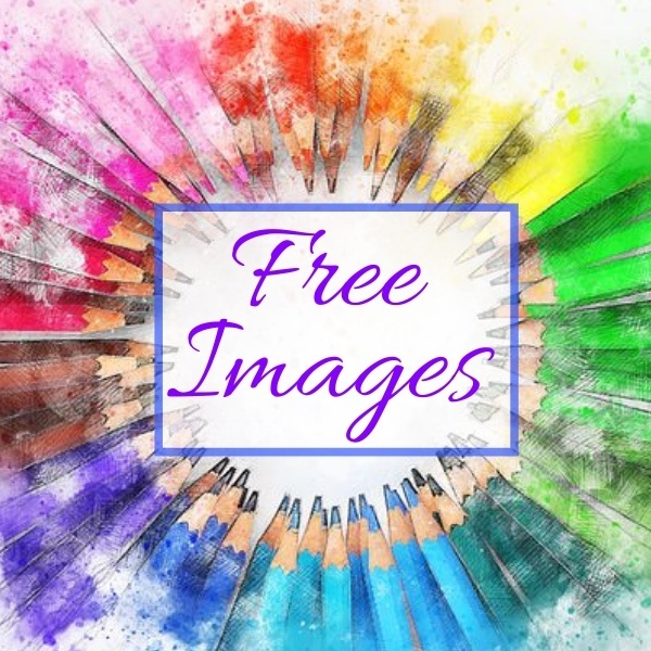 free images - background of pencil crayons in rainbow colours