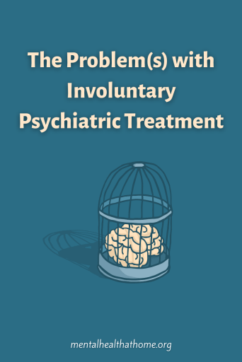 The problems with involuntary psychiatric treatment - image of a brain in a cage