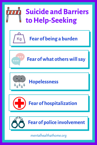 Potential barriers to help-seeking for suicidal ideation