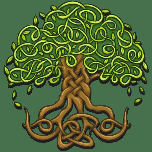 Celtic oak tree of life design