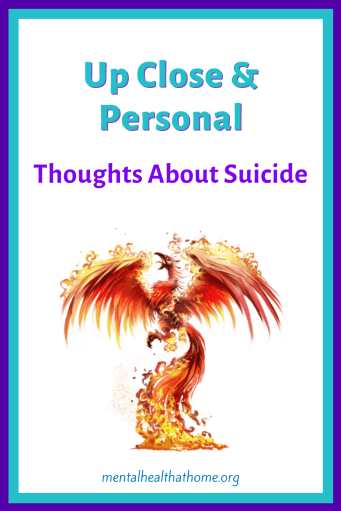 Up close and personal: Thoughts about suicide - graphic of a phoenix