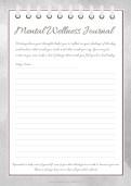 My Mental Health Writing Worksheet