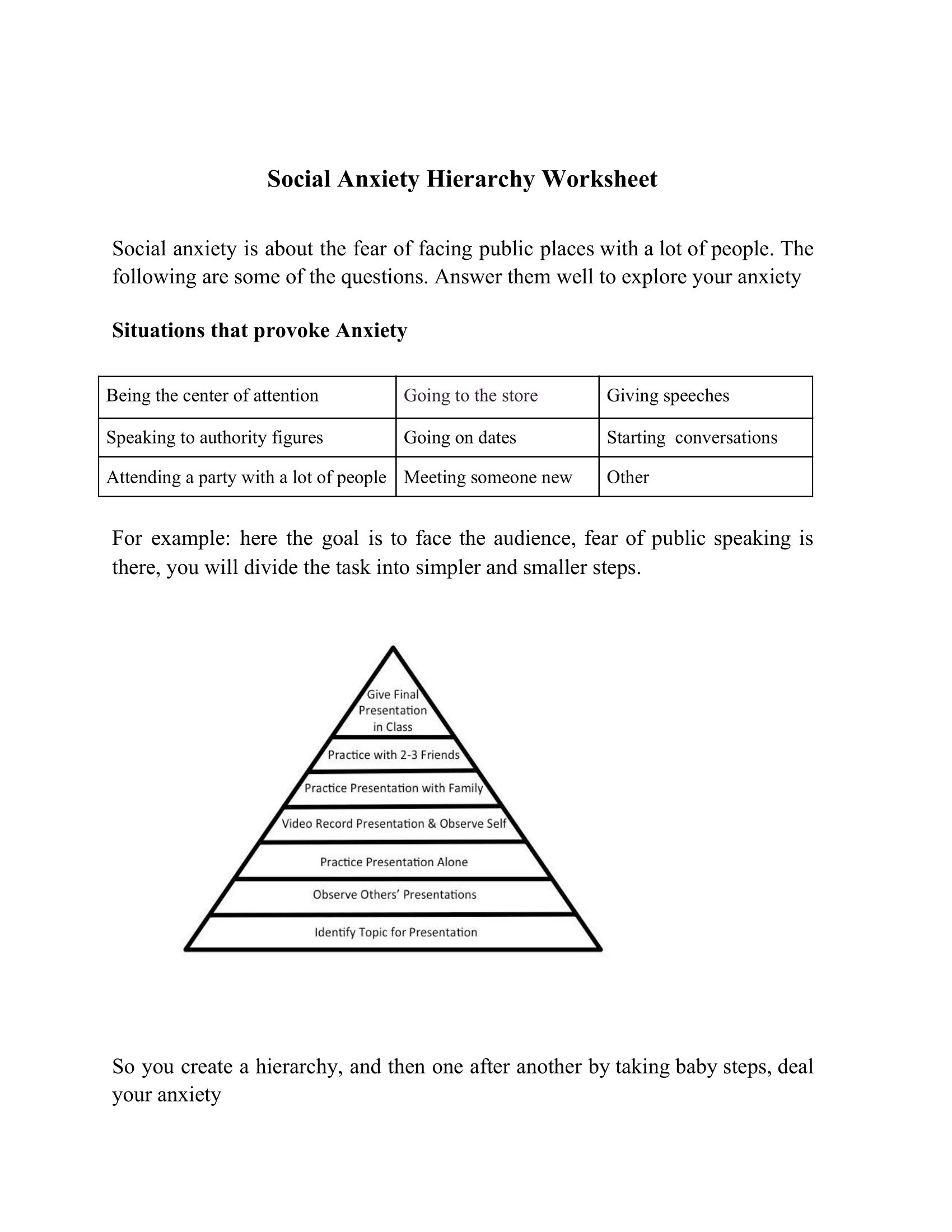 Borderline Personality Disorder Worksheets