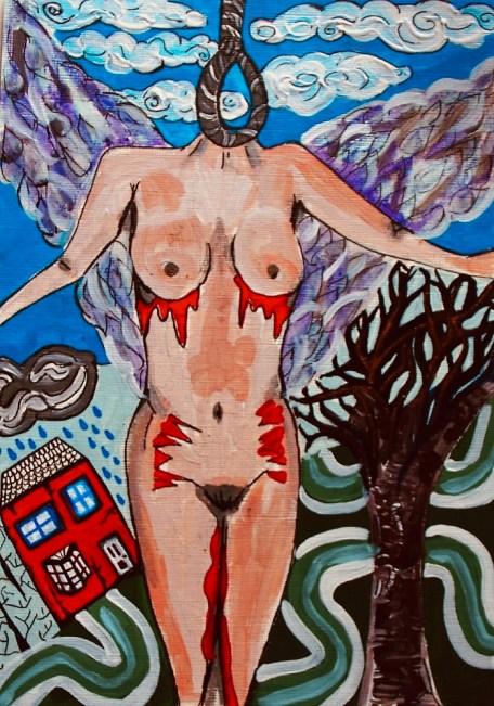 I Died That Night - Survivor Art by Charlotte Farhan