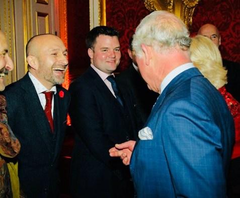 Ambassador Mat Ricardo meets HRH Prince Charles - Royal Variety Performance