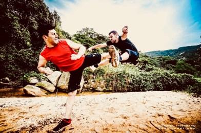 Ambassador Philippe Joly gets his kung fu kicks!