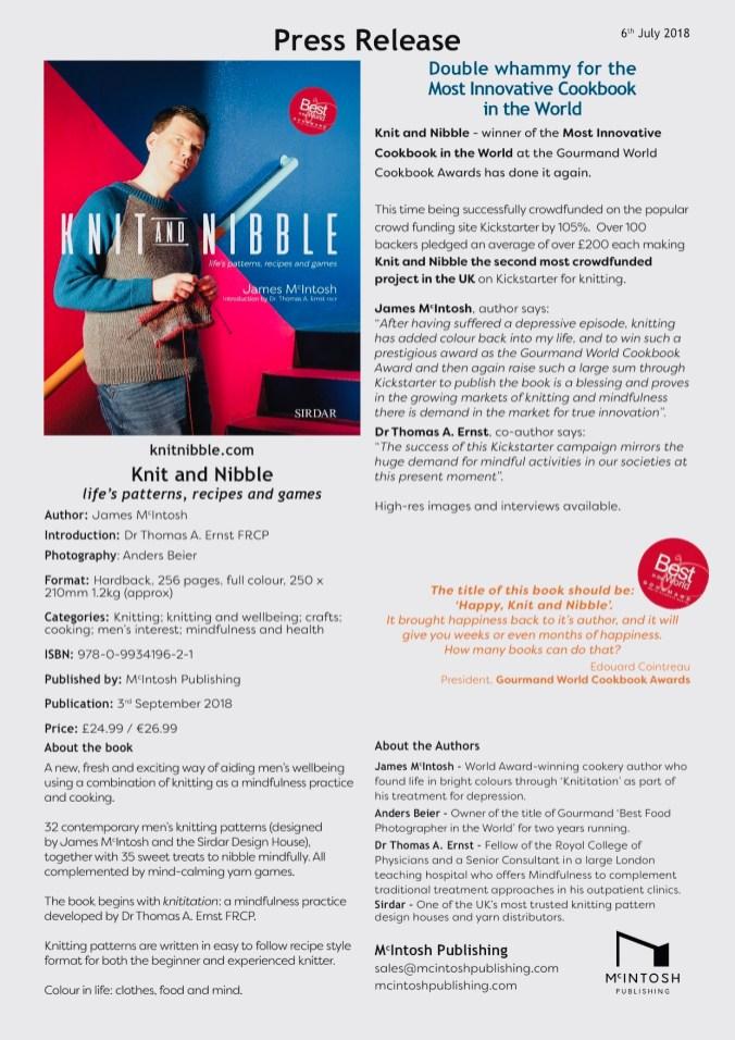 Knit & Nibble - Press Release
