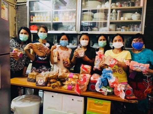 the recipients of Nitu and friends' bread! copy