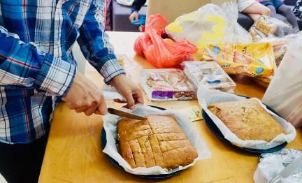Raquel's Giant Banana Cake Goes Down A Tream @ Refugee Union!