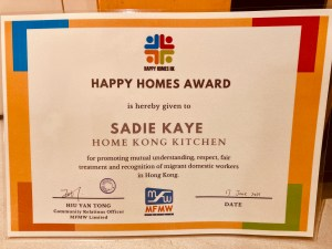 Home Kong Kitchen Wins Award from Mission For Migrant Workers!