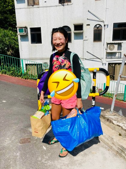 Happy Daze - HKK Delivery to Breadline's Daisy Tam Diers