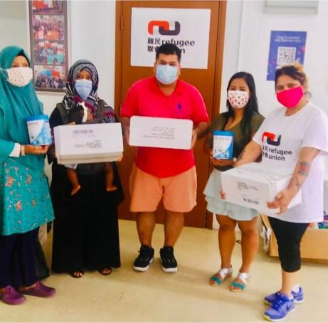 Refugees at Refugee Union Receive HKK Donation
