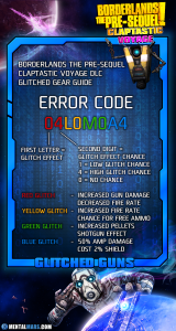 BLTPS - Claptastic Voyage - Glitched Gear Guide - ERROR CODES