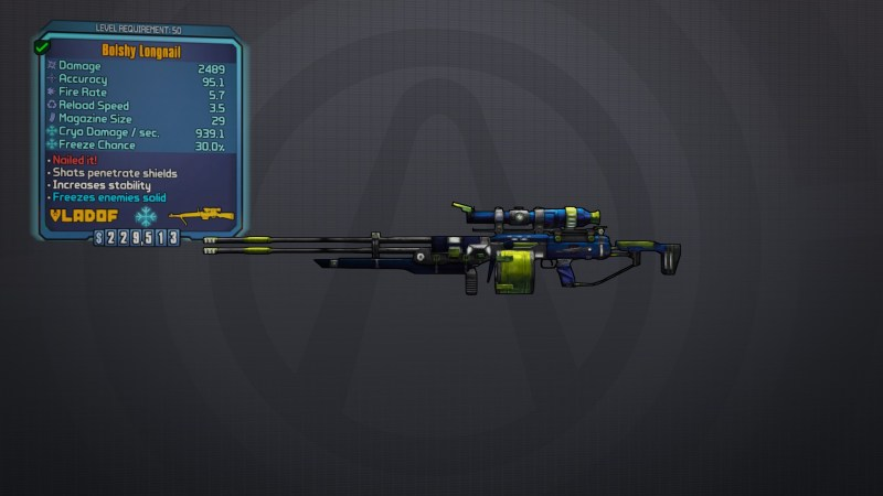 Longnail - Borderlands Legendary Sniper
