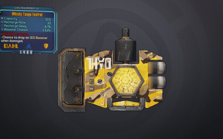 BLTPS Legendary Shield - Whisky Tango Foxtrot