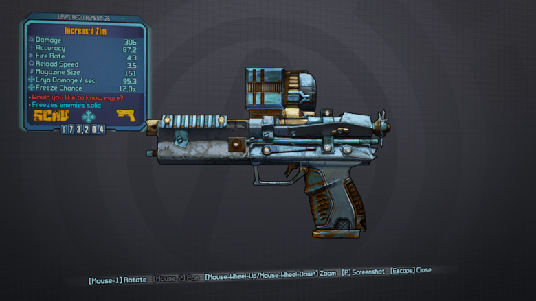 BLTPS Legendary Pistol - Zim