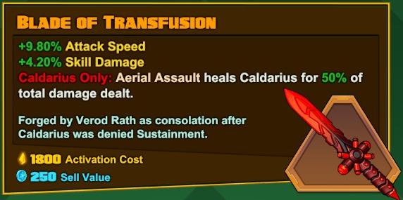 Caldarius - Blade og Transfusion