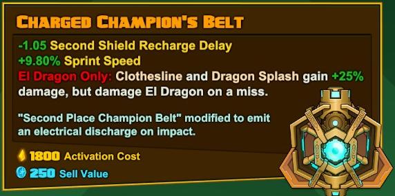 El Dragón - Charged Champion's Belt