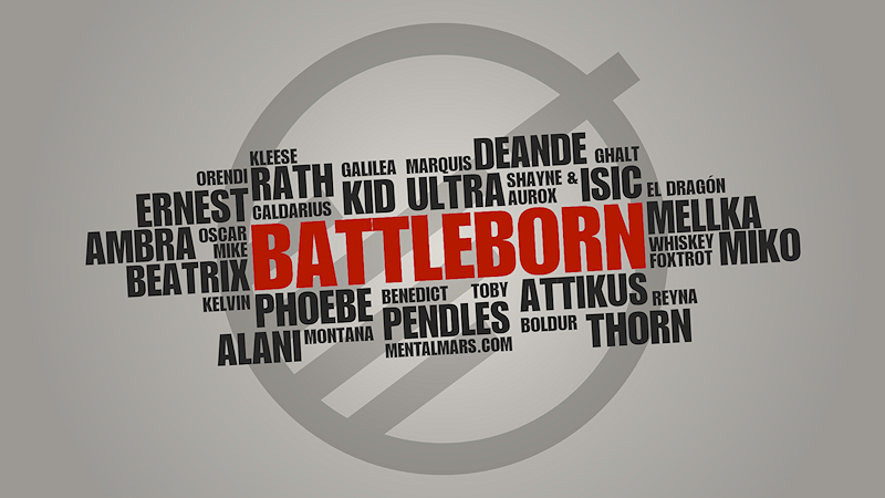 Battleborn Typography Wallpaper