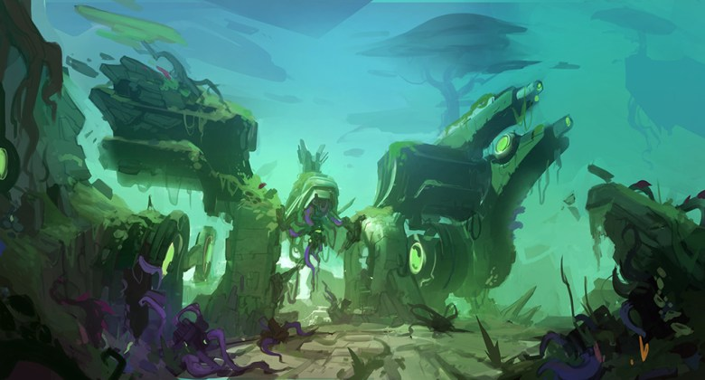 Eldrid - Overgrown crystal mech - Battlborn