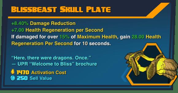 Blissbeast Skull Plate - Battleborn Legendary Gear