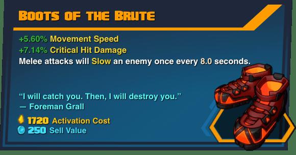Boots of the Brute - Battleborn Legendary Gear