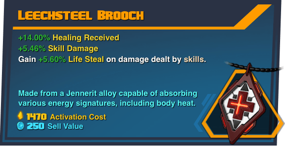 Leechsteel Brooch - Battleborn Legendary Gear