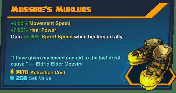 Mossire's Mukluks - Battleborn Legendary Gear