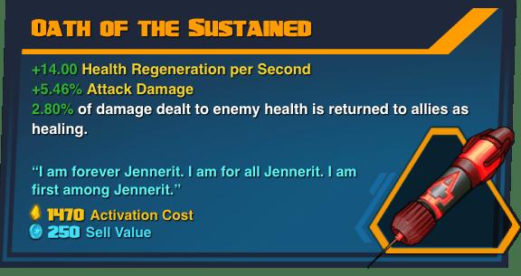 Oath of the Sustained - Battleborn Legendary Gear