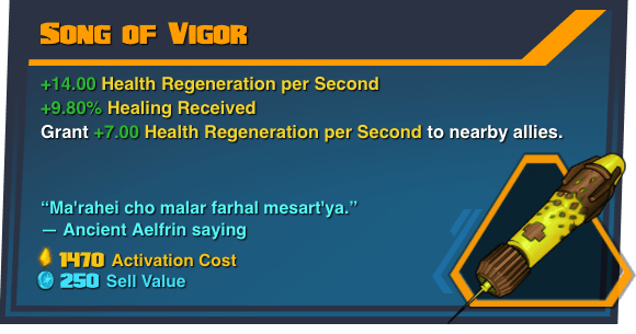 Song of Vigor - Battleborn Legendary Gear