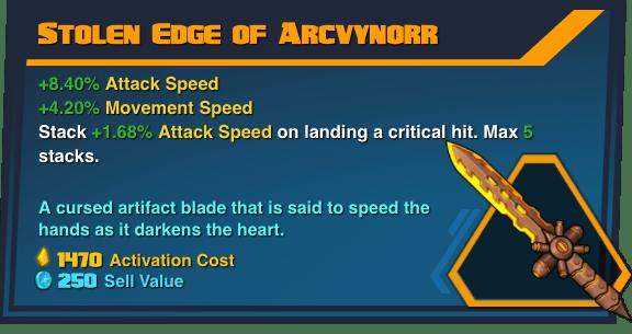 Stolen Edge of Arcvynorr - Battleborn Legendary Gear