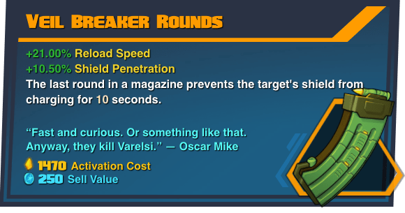 Veil Breaker Rounds - Battleborn Legendary Gear