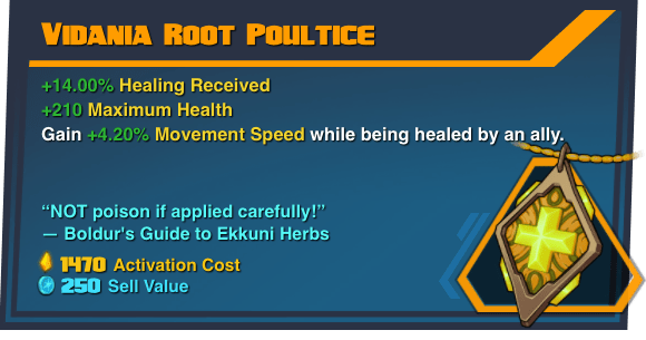 Vidania Root Poultice - Battleborn Legendary Gear