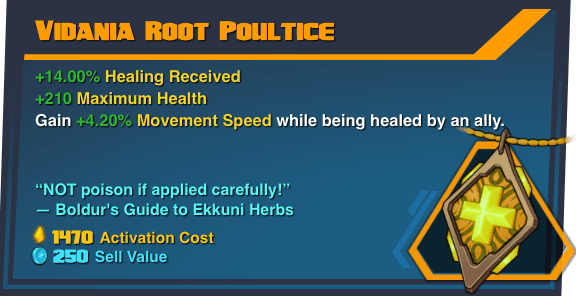 Vidania Root Poultice - Battleborn Legendary Gear