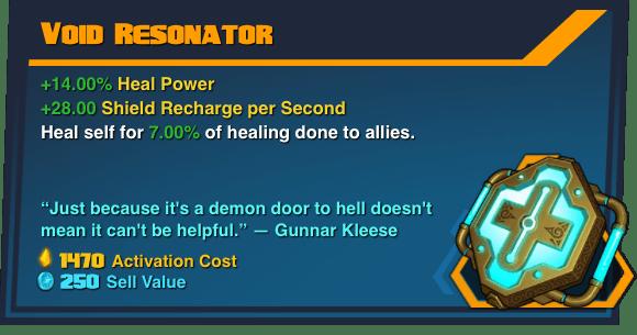 Void Resonator - Battleborn Legendary Gear