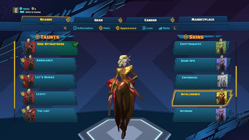 Deande - Intelligence Skin Battleborn