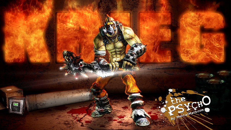 Krieg the Psycho Wallpaper - Borderlands 2 - Preview