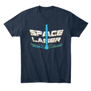 Space Laser T-Shirt by MentalMars
