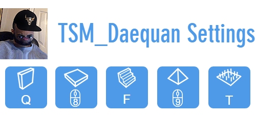 TSM_Daequan's Fortnite Control Settings
