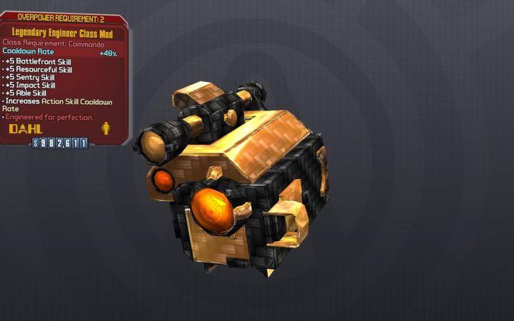 Legendary Engineer Class Mod - Borderlands 2