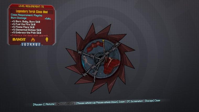 Legendary Torch Class Mod - Borderlands 2