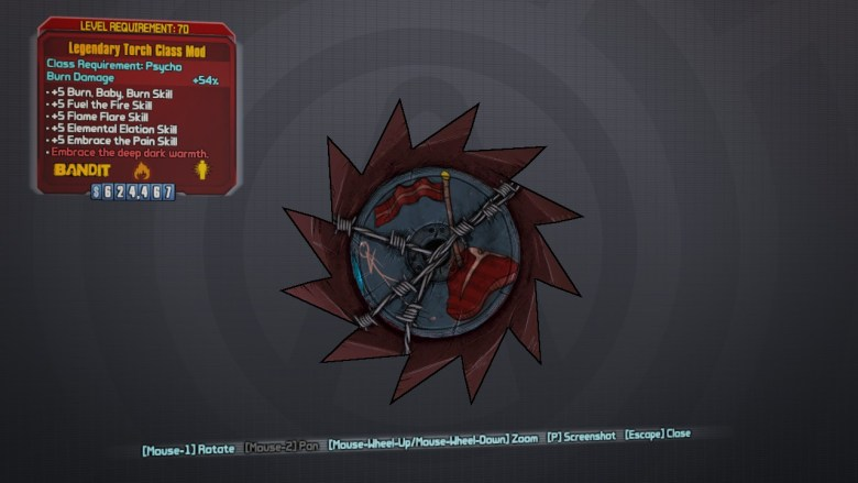 Legendary Torch Class Mod - Borderlands 2