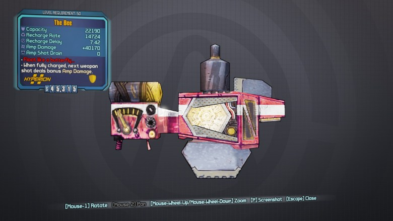 Legendary Bee Shield - Borderlands 2