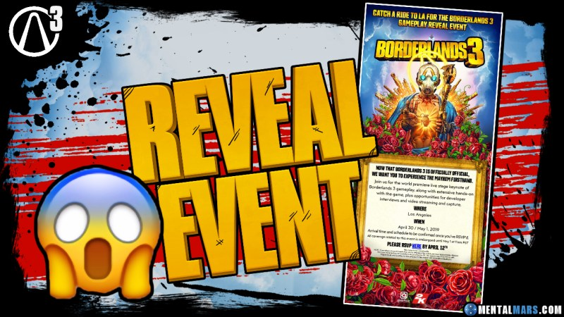 Borderlands 3 Reveal Event Invitation