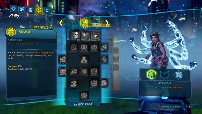Amara Mystical Assault Skill Tree - Borderlands 3